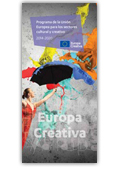 folleto Europa Creativa