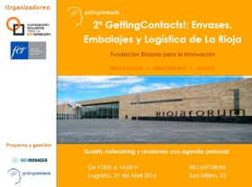 Cartel del encuentro GettingContacts! La Rioja
