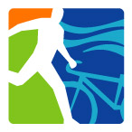 logo triatlon atleta corriendo